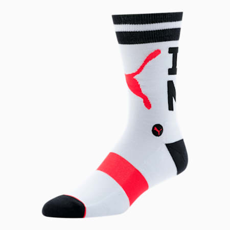 Unisex Crew Socks [1 Pair], WHITE / BLACK, small